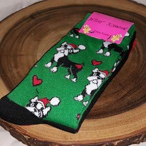 Betsey Johnson Christmas Crew Socks 3 Pack